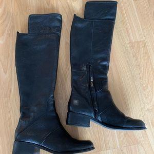 Nine West Knee High Black Leather Boots 6.5